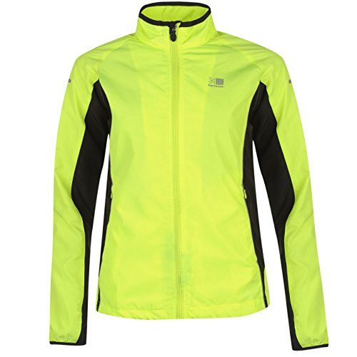 Karrimor Mujer Chaqueta Deportiva De Running Fluorescente Amarillo S (EU 38/UK 10)