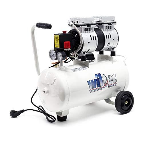 Compressore dAria Silenzioso 220V per Esigenze di Gonfiaggio Rumorosit/à: 60 dB Pressione 8 Bar Compressore Aria Portatile Compressore dAria Oil-free 25 L VEVOR Compressore Silenzioso 750W