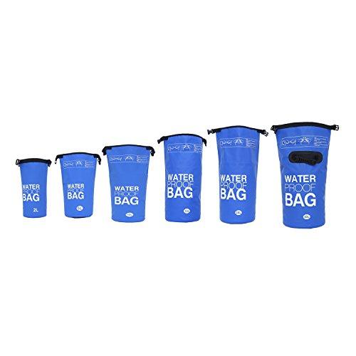 DonDon Bolsa Impermeable Bolsa para almacenar Tus Objetos de Valor Ideal para Practicar Kayak navegación Rafting Pesca natación Camping Senderismo Azul 2 Liter