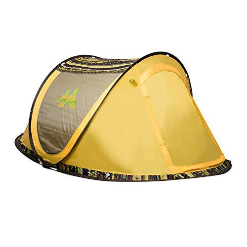 Outdoor Instant Pop-up Tent voor Kamperen, Eenvoudige Setup 3-4 Persoon Draagbare Automatische Setup Beach Tent Sun Shelter Familie Reizen, Deuren aan beide zijden - UV-bescherming