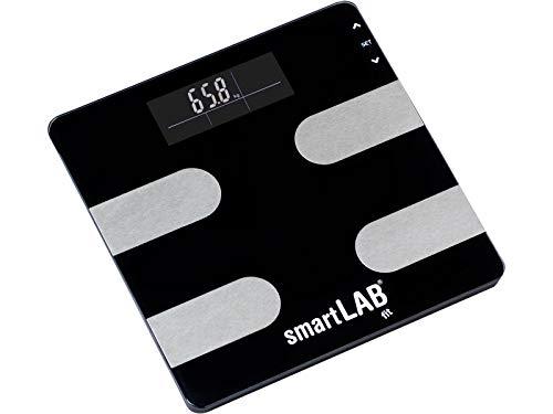 smartLAB fit Körperanalyse-Waage Digital zum Messen von Gewicht, Kalorien, Wasser, Muskel-Masse, Knochen. KEIN BLUETOOTH