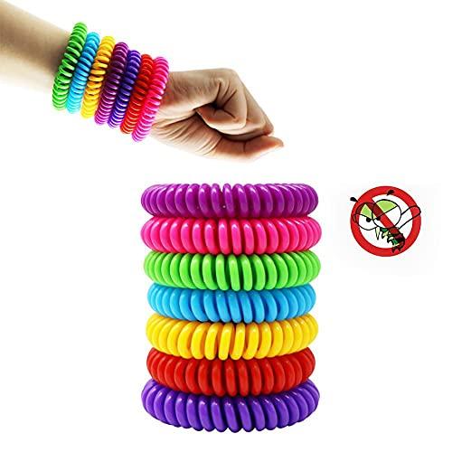 Anti-muggenwerende armbanden Multicolor Ongediertebestrijding Armbanden Insectenbescherming Camping Outdoor Volwassenen Kids 12 stks