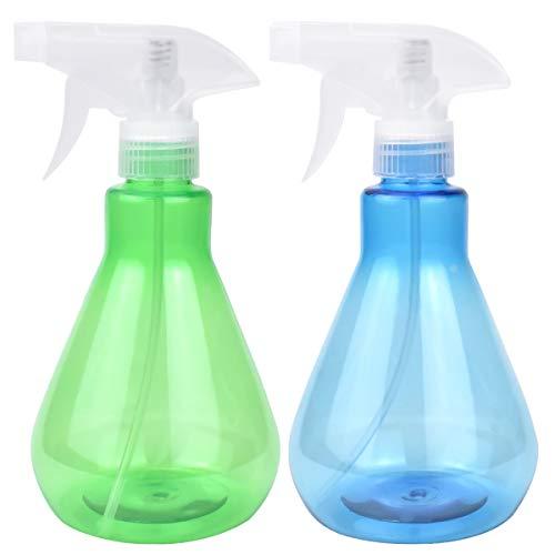Disino 2 Stück Sprühflasche, Sprühflasche Pflanzen Blumen für Garten, Sprühflaschen Kunststoff Leeren für Reinigung Lufterfrischer Friseur 500ml