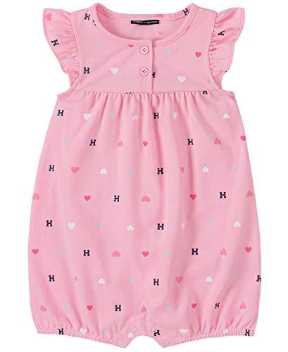 Tommy Hilfiger Baby Girls' Romper, Pink Print, 3-6 Months