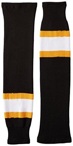 DoGree Hockey Boston Bruins Knit Hockey-Socken, Herren, Black/Gold/White, Intermediate/28-Inch