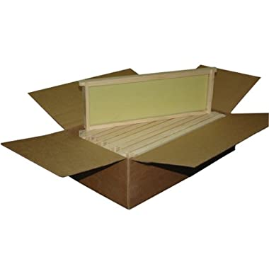 Mann Lake WW926 10-Pack Assembled Commercial Frames with Waxed Natural Rite-Cell Foundation, 6-1/4-Inch
