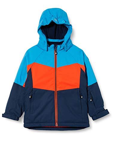 Color Kids Jungen Ski Jacket Schneeanzug, Cherry Tomato, 122