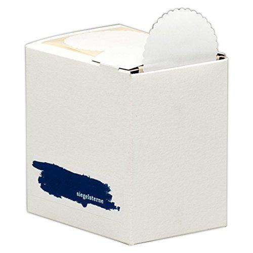 Siegelsterne selbstklebend Ø 53 mm weiß Pack á 600 Stück Siegelmarken Sterne aus Papier