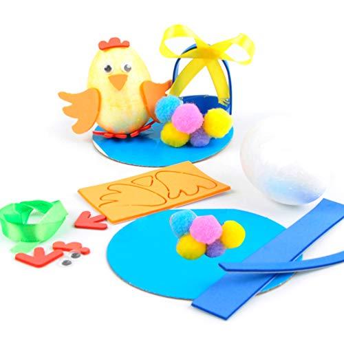 Amosfun 4 Stücke Ostern Hühnerei Spielzeug Diy Handwerk Huhn Tier Lernen Pädagogisches Spielzeug für Kinder Kinder Ostern Partei Liefert