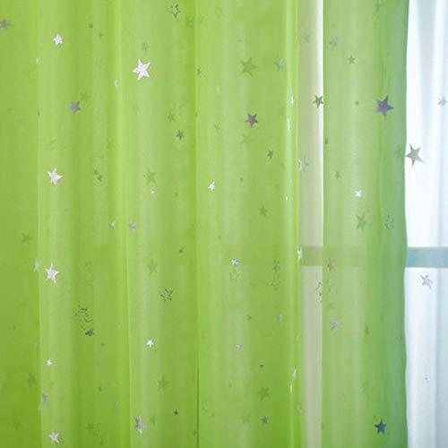 Cortinas tul estrella blanca Cortinas modernas sala