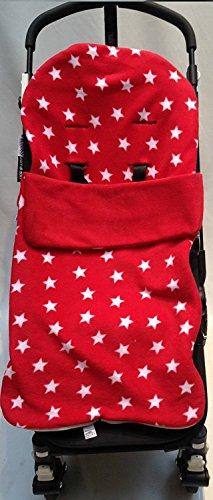 Snuggle saco/Cosy Toes Compatible con Quinny Buggy Buzz Zapp Extra Moodd cochecito rojo Star