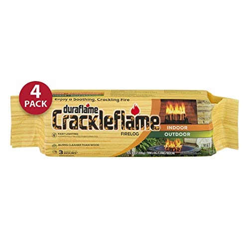 duraflame Crackleflame 4.5lb 3-hr Indoor/Outdoor Firelog, 4-pack