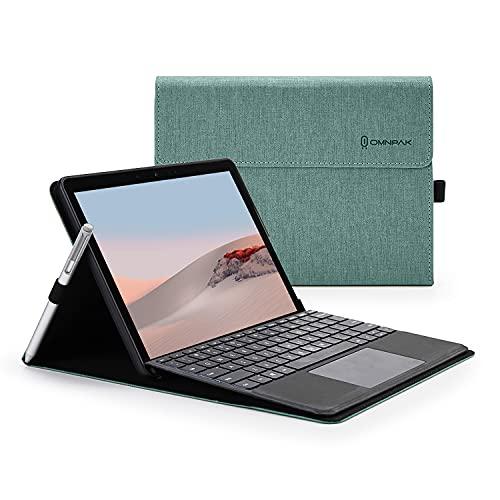 Omnpak Hülle für Surface Go 2 2020 / Surface Go 2018 10-Zoll Tablet, Business-Hülle mit Stifthalter, Einstellbarer Multi-Betrachtungswinkel, kompatibel mit der Type Cover-Tastatur