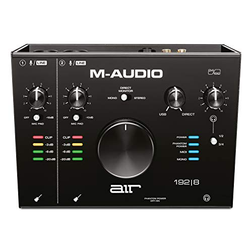 M-Audio AIR 192|8 - Scheda Audio e MIDI USB / USB-C, 2 Entrate, 4 Uscite per Registrazione Professionale su Mac o PC con Pacchetto Software incluso