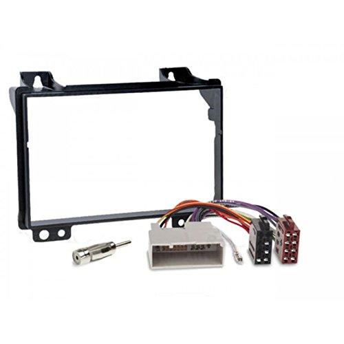 Sound-way 2 DIN Radiopaneel Frame Autoradio, Antenne Adapter, ISO Aansluitkabel, ondersteuning voor Ford Fiesta, Fusion