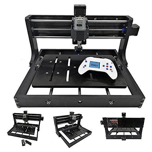 Máquina de grabado láser,precisión de escritorio CNC grabador Kit de máquina con mango fuera de línea y tablero de control multifunción, corte plástico metal resina manualidades (3.5 W)