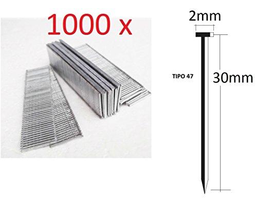 1000 stuks nagels 30 mm voor elektrische nietmachine Parkside kwaliteit Duits type 47