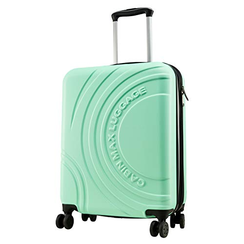 Cabin Max Velocity Expandable 4 Wheel Luggage Suitcase for Ryanair Cabin Bags 55 x 40 x 20(Mint Green)