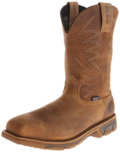 Irish Setter Work Men's 83912 Marshall 11' Pull-On Steel Toe Waterproof Work Boot,Brown,12 EE US