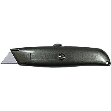 Excel Blades K9 Retractable Utility Knife, Standard Size Heavy Duty Metal Box Cutter Knife