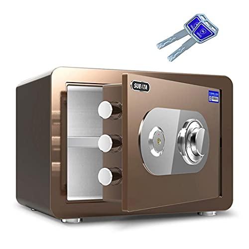 Caja fuerte de seguridad mejorada, cajas fuertes para casas pequeñas, acero resistente al fuego, mecánica a prueba de robos y manipulación, caja de almacenamiento de gran capacidad, fácil de usar, 3 t