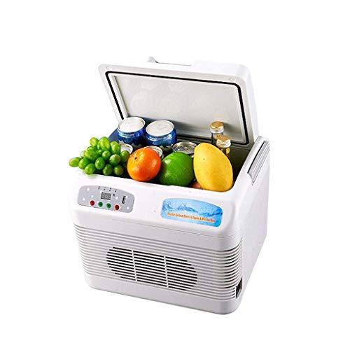 FDSZ Mini refrigerador de refrigerador portátil, refrigerador de Dos en uno, congelador electrónico, Ahorro de energía, para Dormitorio y Oficina 12 l