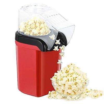 Popcorn popper maker, Hot Air Popcorn machine-1200W, Oil-Free?FDA Certified, Red