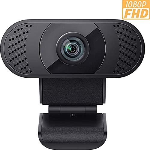 EhomeWebcam 1080P mit Mikrofon, PC Laptop Desktop USB 2.0 Full HD Webkamera für Videoanrufe, Online-Unterrichte, Konferenzen, Live, Plug und Play