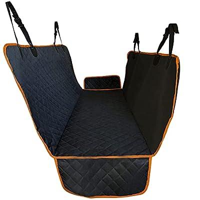 Prupet Dog Back Seat Cover Protector for Cars, Trucks & SUVs, Waterproof Scratchproof Nonslip Pet Car Backseat Hammock Against Dirt and Pet, Black