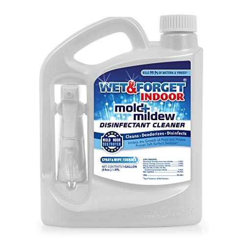 Wet & Forget Indoor Mold and Mildew All Purpose Cleaner- Deodorizes, Disinfects, Kills 99.9% of Bacteria and Viruses, 64 OZ. Ready to Use