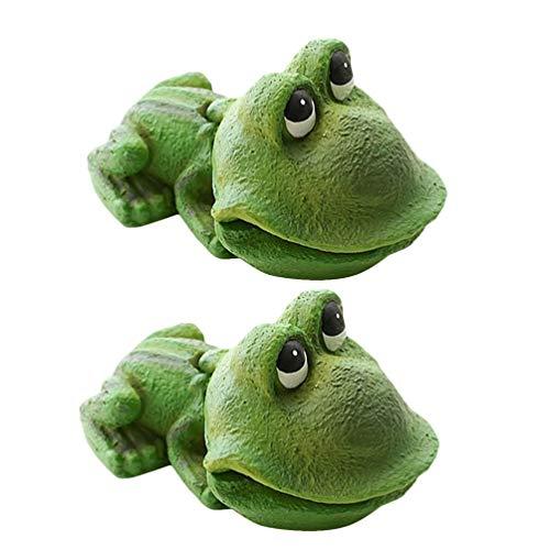 POPETPOP 2pcs Fish Tank Frog Shaped Bubbling Stone Aquarium Landscape Ornaments Frog Aquarium Decor