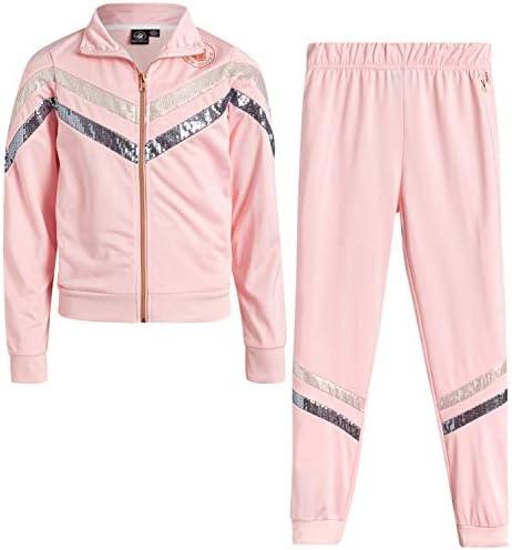 Body Glove Girls Tricot Jog Set Full Zip Warm Up Jacket and Jogger Sweatpants Tracksuit Set product image