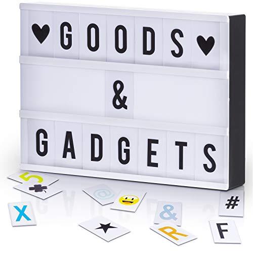 LED Lichtbox Blockbuster Leuchtbox Light Box Leuchtkasten + USB-Netzteil + 204 Buchstaben & Zeichen