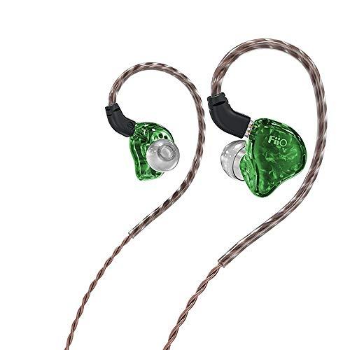 hifi (FiiO) FH1s Bobina Móvil de Dos Unidades + Auriculares de Hierro Móvil, 0.78 mm Tapones para Los Oídos de Doble Pin Altavoces de Nivel Básico para Amantes de La Música Popgreen