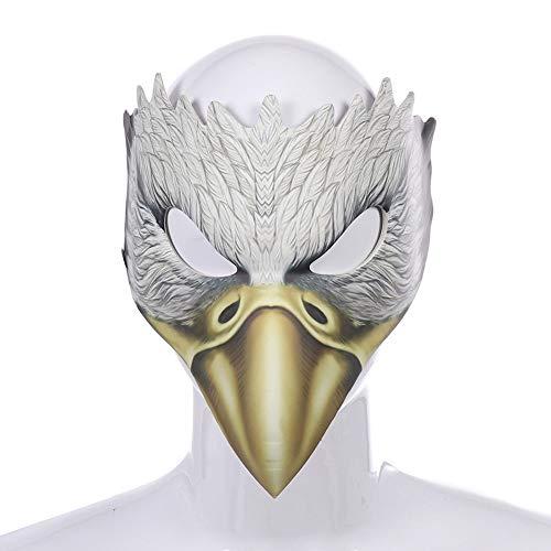 Bebliss Halloween Adler Maske Karneval Party Hochwertige PU Leder EVA Weißadler Maske Halloween Dekoration