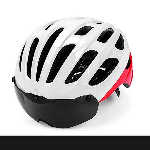 Stella Fella Cascos de seguridad para hombres y mujeres, casco de ciclismo de montaña, casco magnético para bicicleta de carretera, transpirable, cómodo (color: blanco)