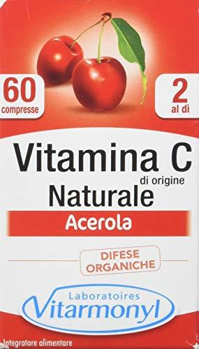 Vitarmonyl VITAMINA C DI ORIGINE NATURALE  Integratore 60 capsule  Difese Organiche  Acerola  Registrato Ministero Salute Italiano