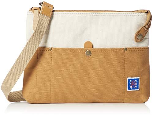 [キワダ] サコッシュ S 木綿屋五三郎 帆布コンビ 鞄の聖地兵庫県豊岡市製 キャメル