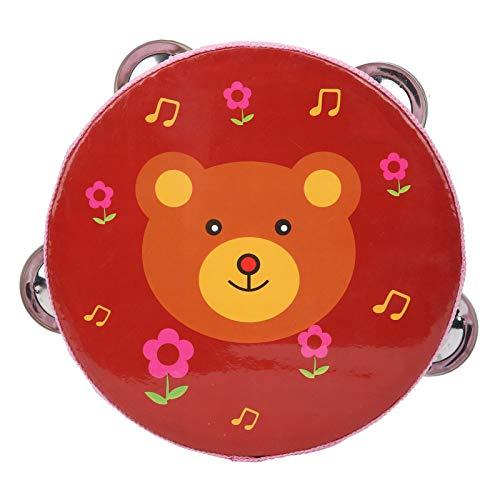 Salaty Juguetes de Tambor para niños, Juguetes para bebés de Tambor de Mano Estable Duradero de Creatividad Robusta(Red Bear)