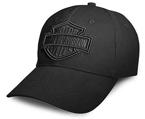 HARLEY-DAVIDSON Herren Baseball-Cap Biker Kappe Phantom Gestickte Grafik Verstellbar Motorrad Basecap Cappy für Männer