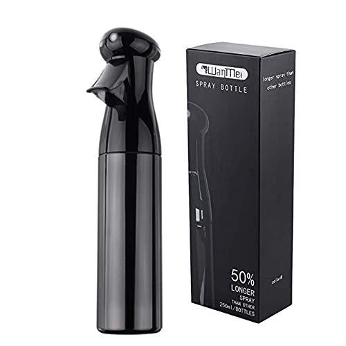 HZL 250ml Spray Bottle Salon Hairdressing Sprayer, Empty Water Sprayer, Portable Spray Bottle, Fine Mist Spray Bottle, Refillable Bottles(Black)