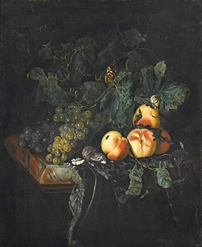 Berkin Arts Willem Van Aelst Giclée Leinwand Prints Gemälde Poster Wohnkultur Reproduktion(Vanitas Blumenstillleben) #XFB