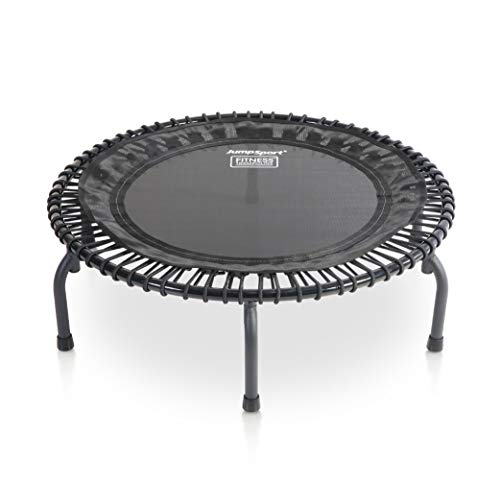 JumpSport 430 44-Inch in-Home Rebounder Fitness Trampoline with Long-Lasting Premium Bungees and Included Workout DVDs
