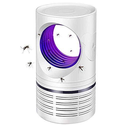 蚊取り器【2020最新の発表】蚊ランプUV光源誘導式静音強風吸引USB型家庭用蚊取り器モスキートキラー吸引式捕虫器無放射線人体無害薬剤不要省エネオフィスアウトドア用(ホワイト)
