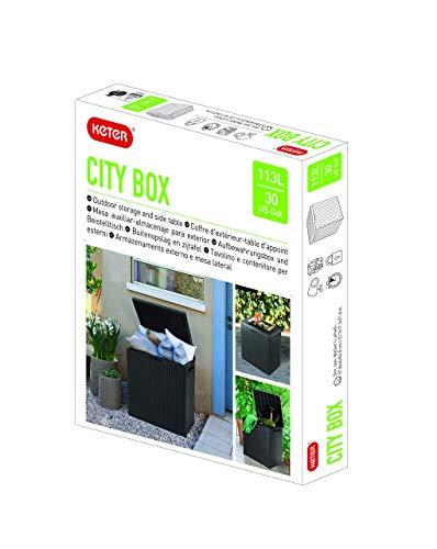 Keter City Outdoor Storage Box – Dark Grey