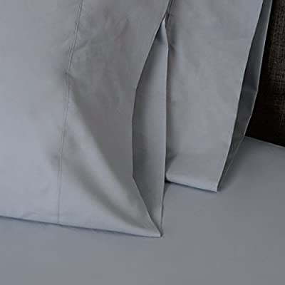American Made 100% Cool Flow Cotton Memory Foam Fitted Sheet Set - Blue Mist