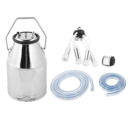 Cocoarm 25L tragbare Kuhmelkmaschine, Edelstahl-Melkeimer, Melkvorrichtung, Ziegenkuh-Melkmaschine, verstärkte Impulsvakuumpumpe