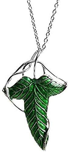 LBBYMX Co.,ltd Collar de Moda El Hobbit Vintage Elf Green Leaf Colgante Mujeres Hombres