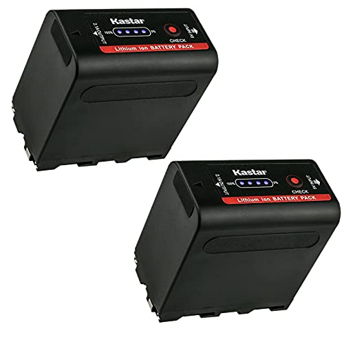 Kastar 2 Pack Battery Replacement for Sony NP-F980 Pro NP-F960 NP-F970 CCD-TR415 CCD-TR416 CCD-TR425 CCD-TR427 CCD-TR500 CCD-TR511 CCD-TR512 CCD-TR515 CCD-TR516 CCD-TR517 CCD-TR555 TR57 CCD-TR67