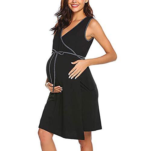Bebe Puericulture Robes Chemise De Nuit Grossesse Maternite Robe Allaitement Femme Enceinte Noir Automne Vetement Pyjama Pour Hopital Accouchement